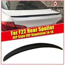 цена на F22 Spoiler stem Wings P style FRP Unpainted Car styling For 2 Series 220i 228i 228XD 230i 230XD 235i rear Spoiler Wing 2014+