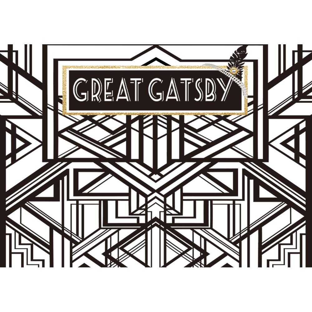Funnytree backdrop for photo studio birthday great gatsby black and white custom photography background photocall photobooth