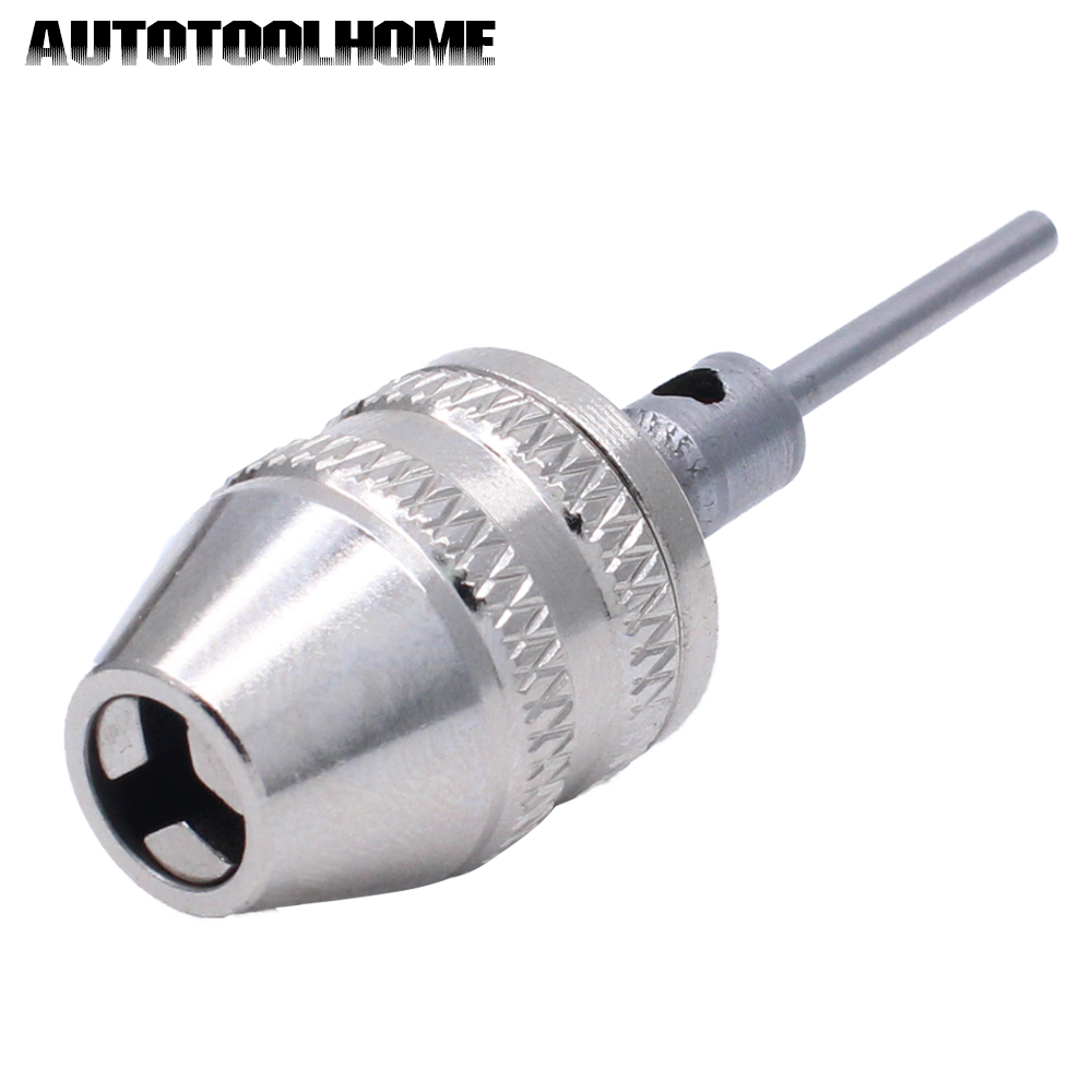 Keyless Drill Chuck Quick Change Adapter Converter 2.3mm shaft Capacity 0-4mm For Electric Motor Grinder for Dremel Rotary Tools