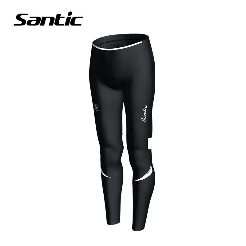 Winter Santic Cycling Pants Women Fleece Warm Road Mountain Bike Pants Windproof Bicycle Pants Cycling Long Trousers Padded 2017 santic mtb cycling pants bicycle bike downhill pants women trainers cycling tight pants l5c05058p