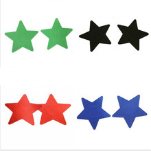 Free shipping Sexy experience 50 pairs (100Pcs) Stars Breast Pasties Nipple Covers 6 color-non-sensitizing adhesive with a soft