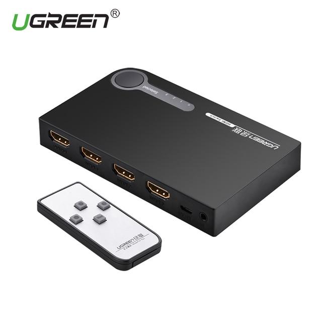 Ugreen HDMI Splitter 3 พอร์ต HDMI Switch Switcher พอร์ต HDMI สำหรับ XBOX 360 PS3 PS4 สมาร์ท Android HDTV 1080 จุด 3 อินพุต 1 เอาต์พุต 4 พัน