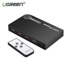 Ugreen rozdzielacz hdmi 3 portowy przełącznik hdmi przełącznik hdmi Port na konsolę XBOX 360 PS3 PS4 Smart Android HDTV 1080P 3 wejście na 1 wyjście 4K