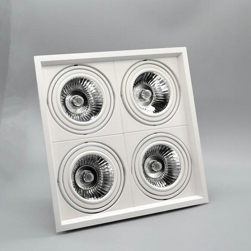 Затемнения встраиваемые светодиодные светильники удара 1x15 Вт 2x12 Вт 4x12 Вт вел Пятно светодиодная лампа потолка AC110V 220 В Бесплатная доставка