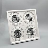 Dimmable Recessed LED Downlight COB 1X15W 2X12W 4X12W COB LED Spot light LED ceiling lamp AC110V 220V Free shipping