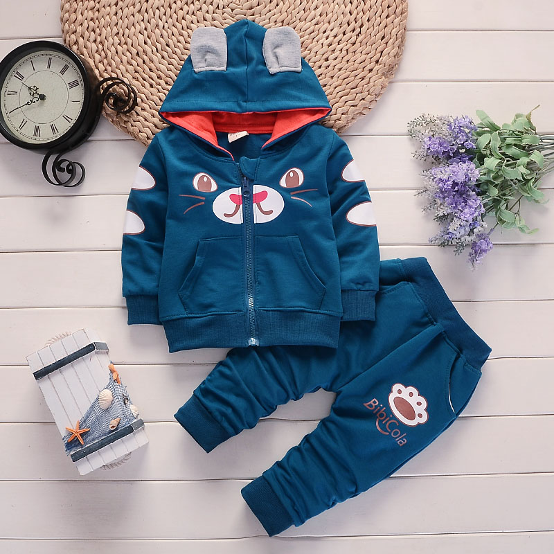 BibiCola baby boys clothing sets tops+ pants 2pcs infant newbron baby clothes sets toddler spring autumn tracksuit bebe suits bibicola spring autumn baby girls boys clothes sets children stars sport suits coat pants 2pcs clothing sets kids child suits
