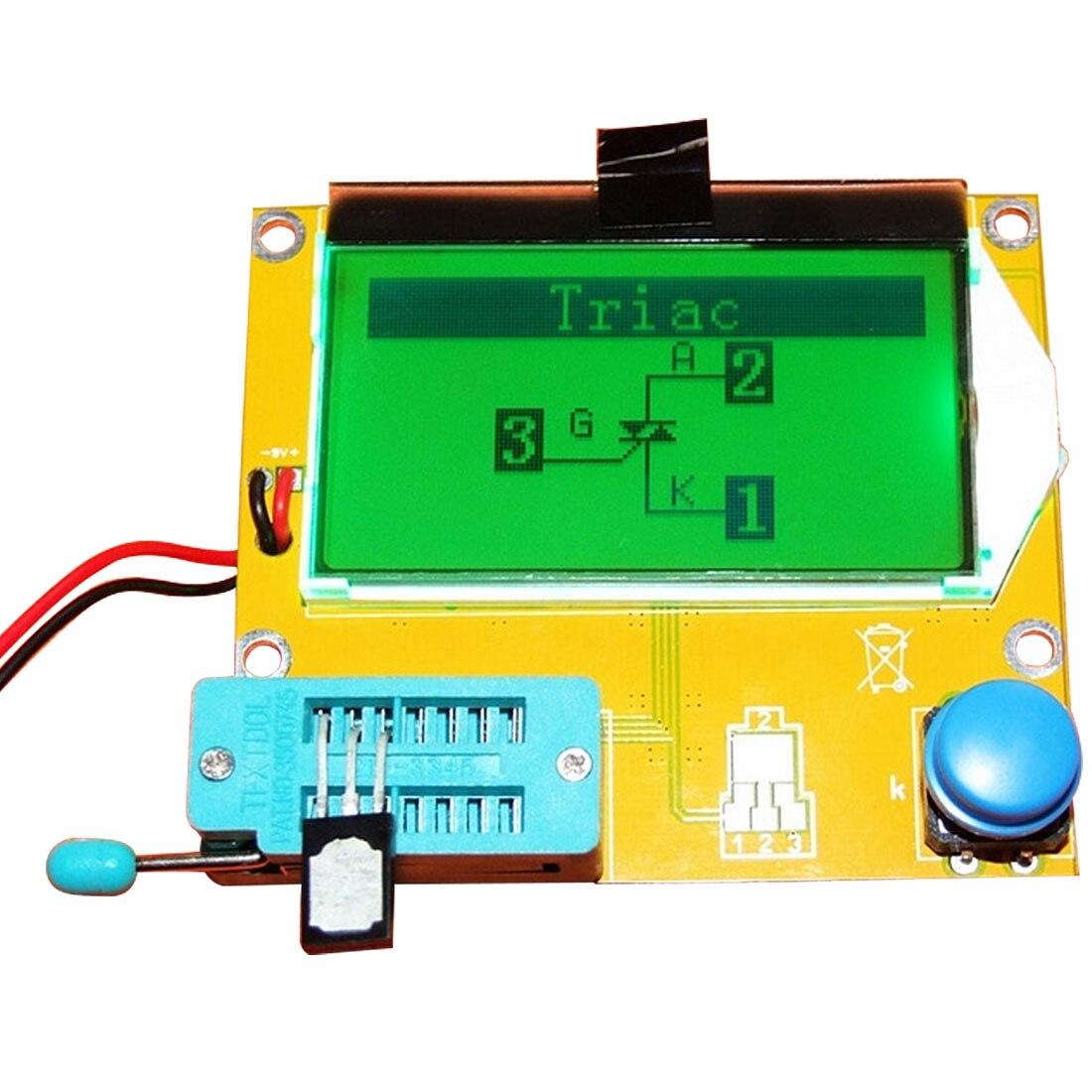 ESR-T4 Mega328 Digital Transistor Tester Diode Triode Capacitance ESR Meter MOS/PNP/NPN LCR 12864 9V LCD Screen