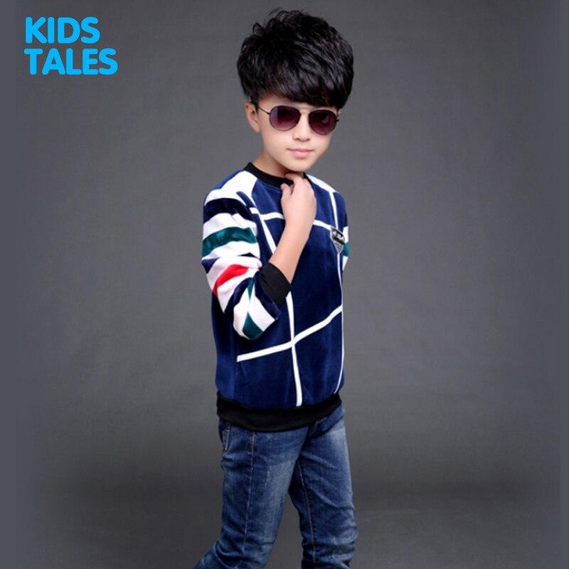 Boys Thick Warm Sweatershirt Children T-shirts Kids Long-sleeved Tops Tee Shirts Teenager Girls Clothes T Shirts 2017 New