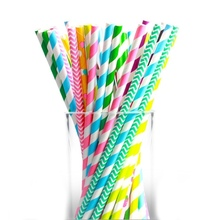 25pcs Black Gold Pink Bendable Eco-Friendly Paper Straw Wedding Decor Disposable Food Grade Birthday Supplies