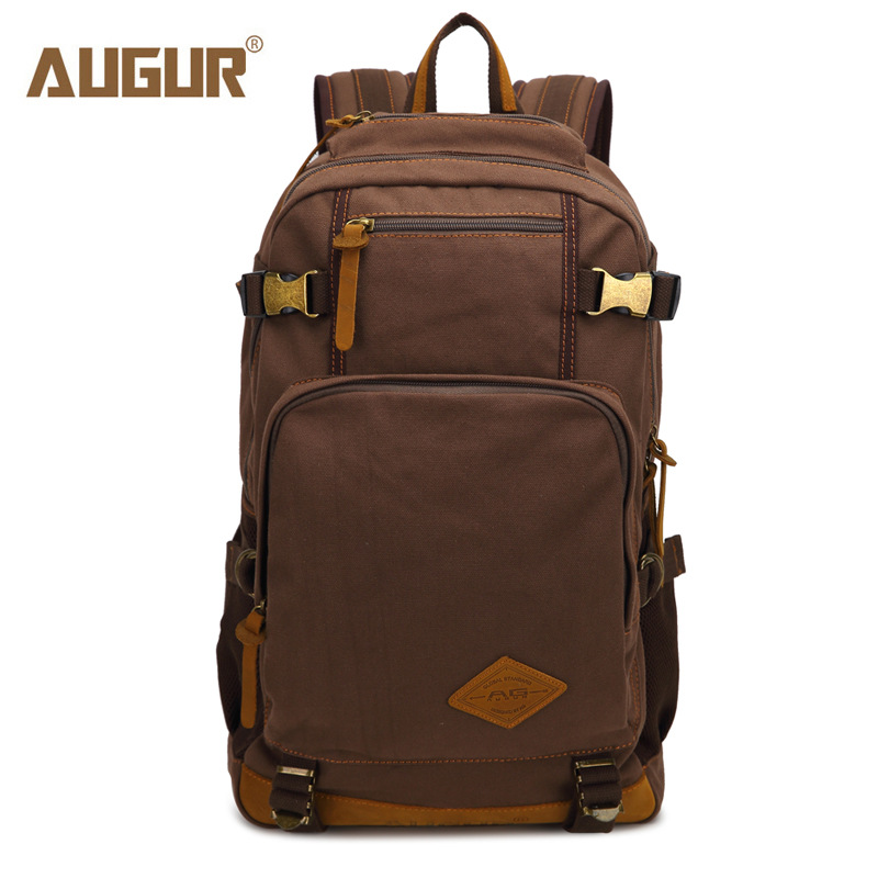 AUGUR 2017 New fashion men's vintage canvas backpack school bag travel large capacity laptop backpacks bags8190 new fashion vintage backpack canvas backpack teens leisure travel school bags laptop computers unisex backpacks men backpack