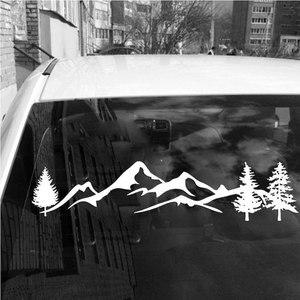 Image 4 - Diseño de bosque pegatinas de coche para puertas de SUV, ventanas, autoadhesivo de vinilo para nevera, pegatinas de coche con estilo para el hogar