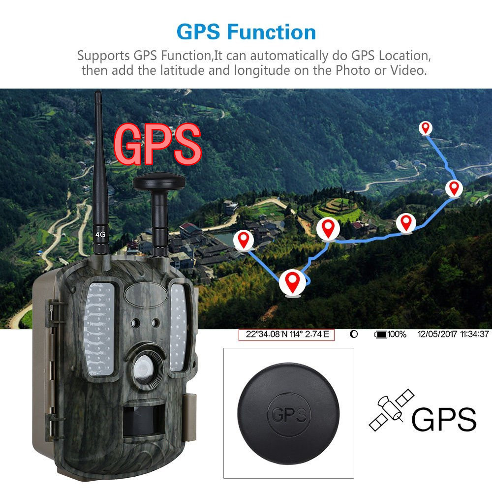 4G Hunting Camera MMS 12MP GPS 4G Network LTE Wildlife Home Surveillance Forest Game Camera Trail Hunter Camera Photo-traps Cams fdd lte scouting hidden surveillance hunting trail camera with 4g signal gps ftp mms smtp infrared camera photo trap foto camera