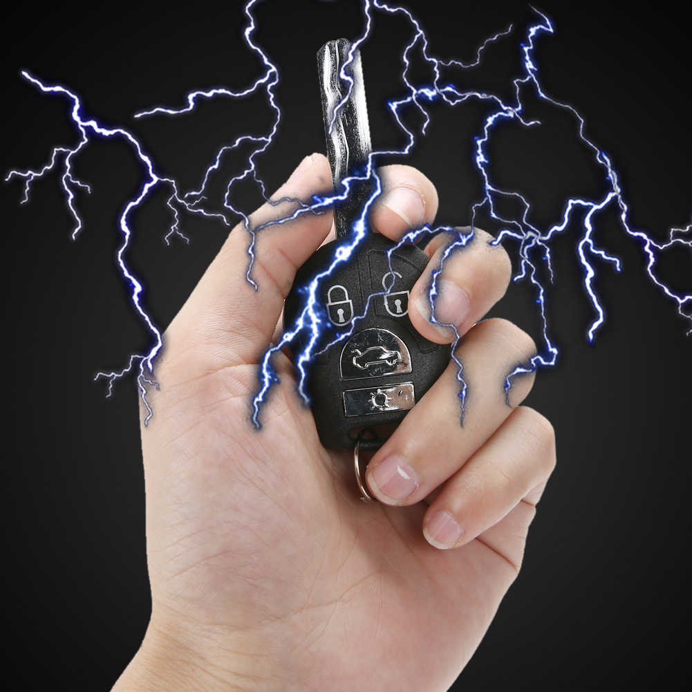 Toy Fun Novelty Electric Shock Car Keys Electriferous Prank Trick Prank Toy for Adults Kids
