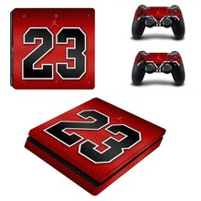 PS4 Slim Sticker Vinyl Design Air Man Jordan Skins Kit for Playstation 4 Slim Console and Two Controllers Cover Stickers