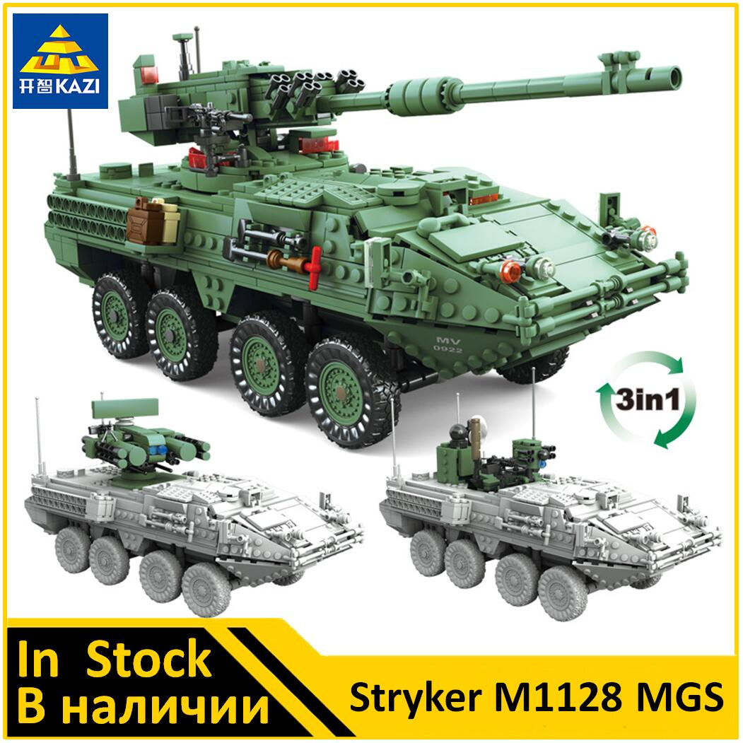 KAZI Stryker M1128 MGS Compatible Military KY10001 Building Block Set Brand new Toys for Boys