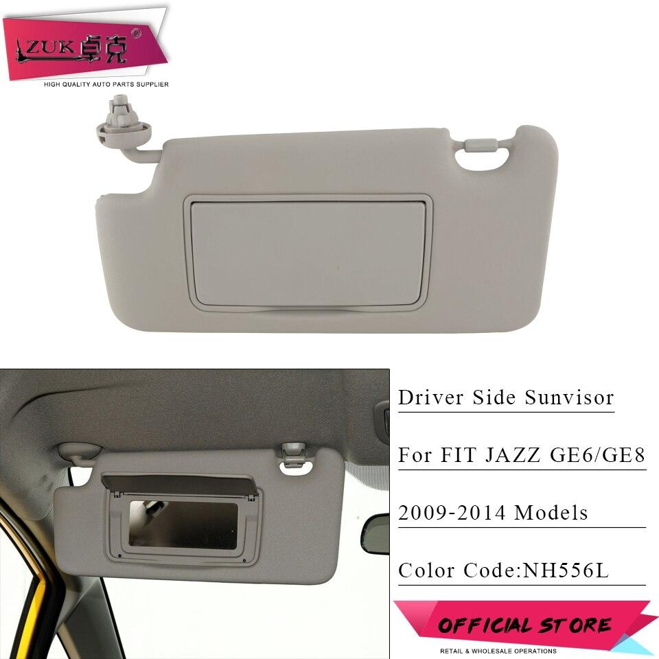 ZUK Car Left Driver Side Sunvisor Sunshade Sun Shield Antidazzle Visor For HONDA FIT JAZZ 2009
