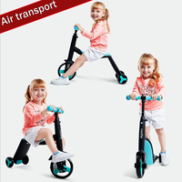 2018 new three in one children scooter 2 3 6 year old boy bicycle female baby stroller tricycle riding bicycle,air freight