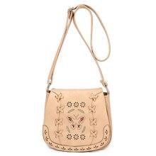 Neue 2016 Aushöhlen frauen handtasche frauen Strick Pu-leder vintage-tasche umhängetaschen umhängetasche weiblichen kleinen tote
