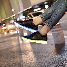 Size 31-46 USB charger Led Shoes for kids & adults Light Up Sneakers for boys girls men women