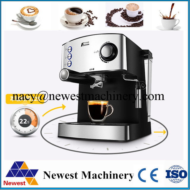 Commercial Automatic Espresso Black Coffee Machine Portable Drip Maker Cuccino With Milk Steaming High