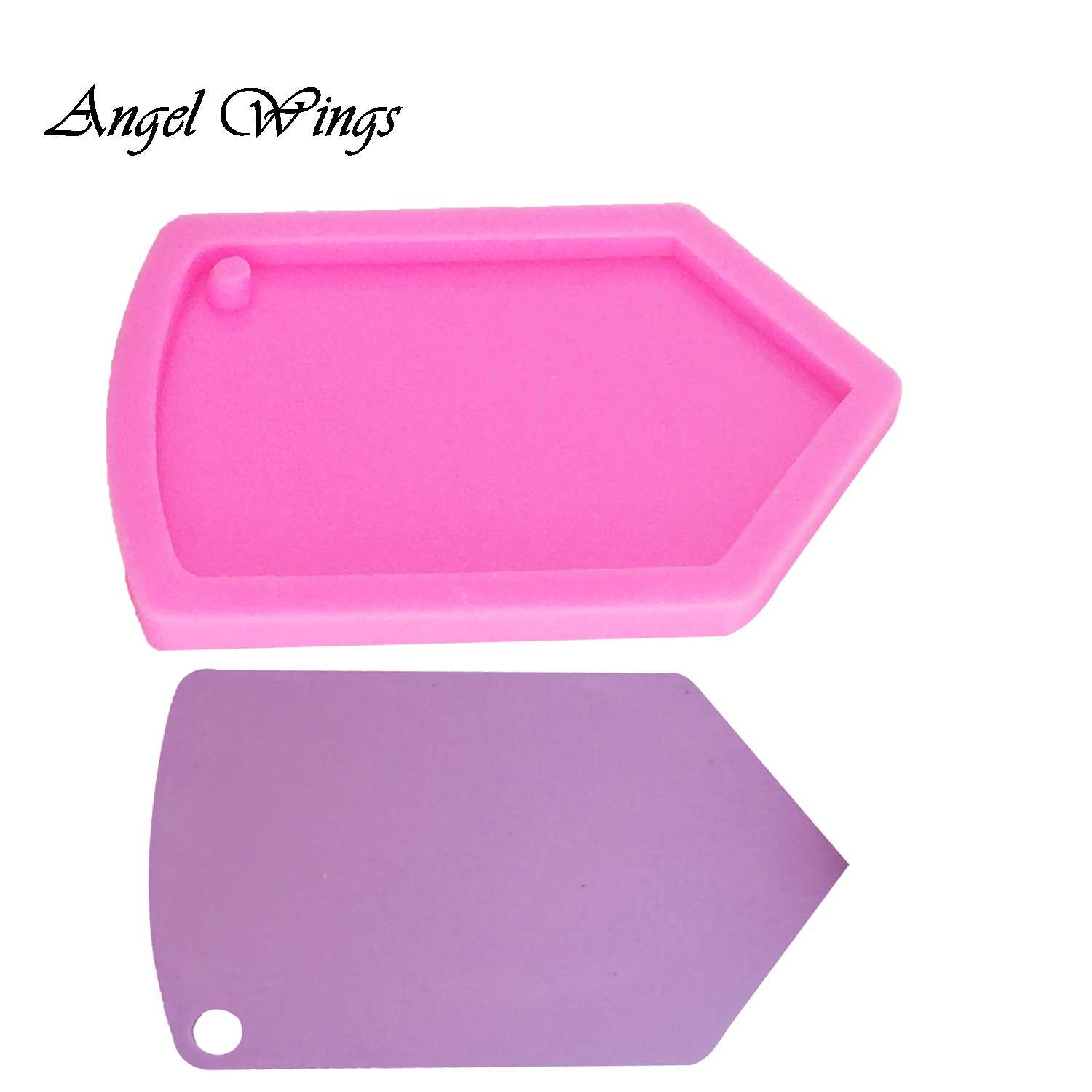 Shiny Glossy Pencil Shape Silicone Molds Making Keychain Polymer Clay Mold Necklace Epoxy Resin Jewellery Silicone Mold Resin Crafting Molds for Keychains Mold