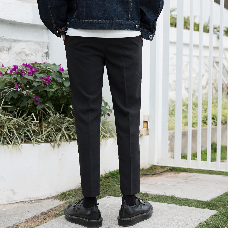 2018 г. Летняя мужская рабочая одежда офис костюм Штаны мужчин Свадебная вечеринка gey черные деловые Брюки Хомбре de trabajo