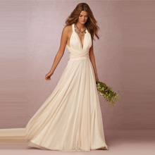 High Quality Long Convertible Bridesmaid Dresses Floor Length Cheap Maid of Honor Plus Size Wedding Party Dress Custom Size
