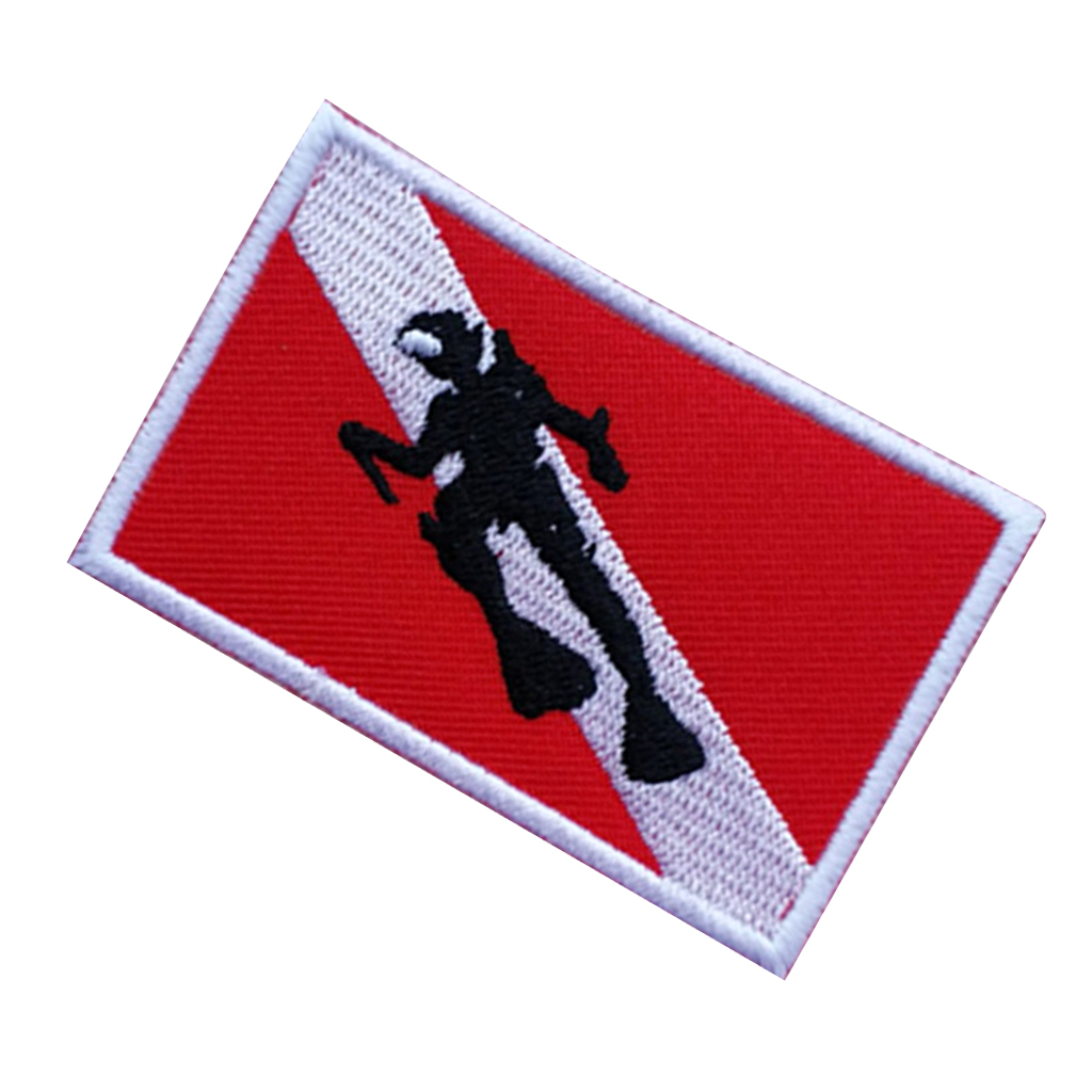"SWIMMING WATER SPORT DIVER /""SCUBA DIVING/"" IRON ON EMBROIDERED PATCH"
