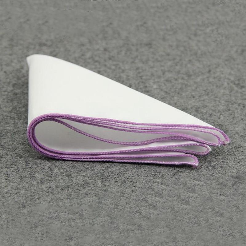 Mantieqingway Solid Color Men's White Handkerchief  Small Pocket Square Business Chest Towel Hanky Gentlemen Suit Hankies