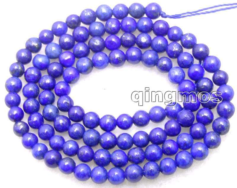 SALE 6mm Round Blue natural lapis lazuli loose beads strand 15-los628 free shipping