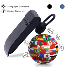 Peiko translation headphones 25 Languages Smart Voice Translator instant Translate Wireless Bluetooth Translator Earphone multifunction wireless instant translation business bluetooth in ear earphone 16 languages any conversion for ios android