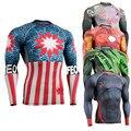 Original Mens Camisas De Compressão Manga Longa 3D Imprime Camisas de Treino de Fitness Crossfit MMA Rashguard Multiuso Térmica under Top