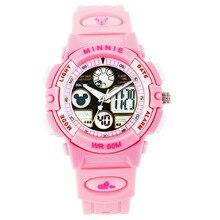 kids boys girls sports wrist watches children digital led clocks waterproof outdoor Run Disney brand student MK-15014