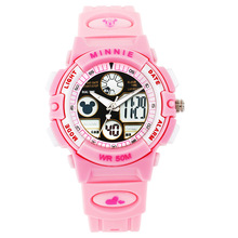 Infantil chicos chicas deportes relojes niños relojes digitales led a prueba de agua al aire libre Run marca Disney estudiante MK-15014