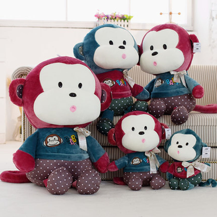 Giant Monkey Stuffed Animal Monkey Pluche Stuffe Speelgoed Birthday Gift For Kids Cute Plush Pillow Baby Toys Soft 70C0362