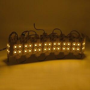 Image 3 - 20 sztuk/partia modułu LED SMD 5050 4 LED DC12V wodoodporne moduły ledowe do projektowania reklam Super jasne ciepłe białe oświetlenie list