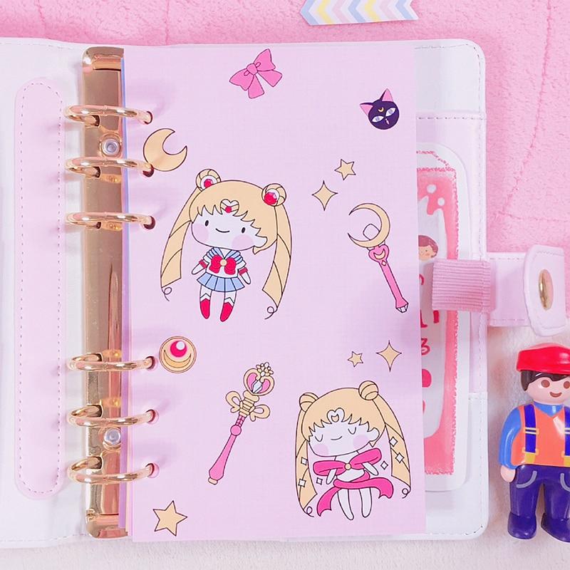 Original Cartoon Lovely Sailor Moon A6 Spiral Notebook
