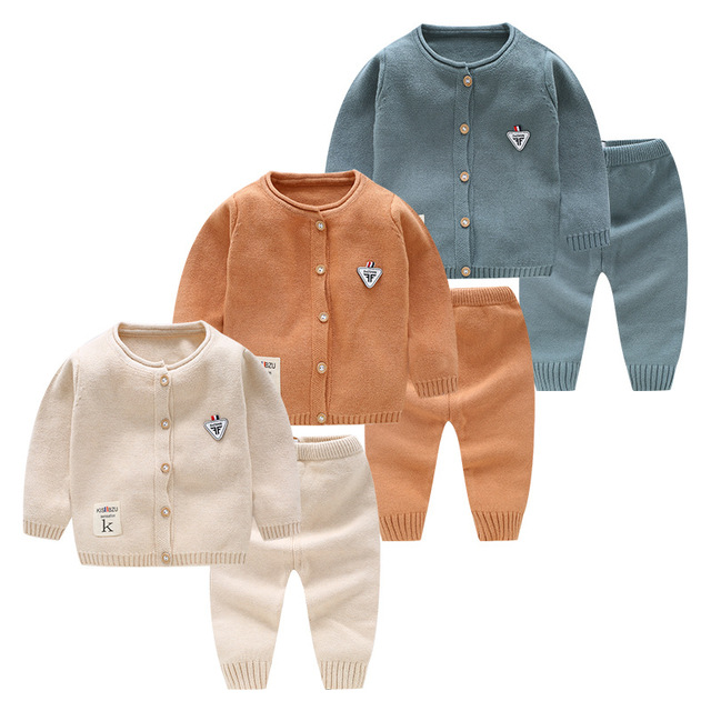 41bb430ce3e1 Cotton 2pcs Newborn Baby Clothes Infant Boys Clothing Outfits Sets ...