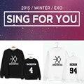 Kpop exo планета логотип Толстовка 2016 осень новый альбом ПЕТЬ ДЛЯ ВАС rief трикотажные EXO k-pop одежда толстовка символ Outerwears