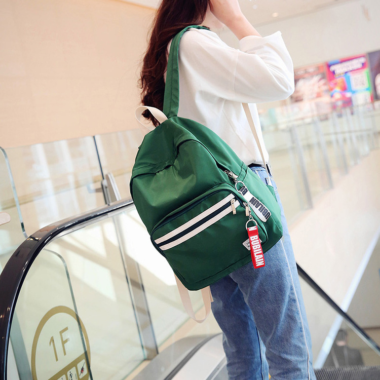 2018 new Japanese Harajuku solid color ulzzang backbag wild brush Street student bag streamer female backpack недорго, оригинальная цена