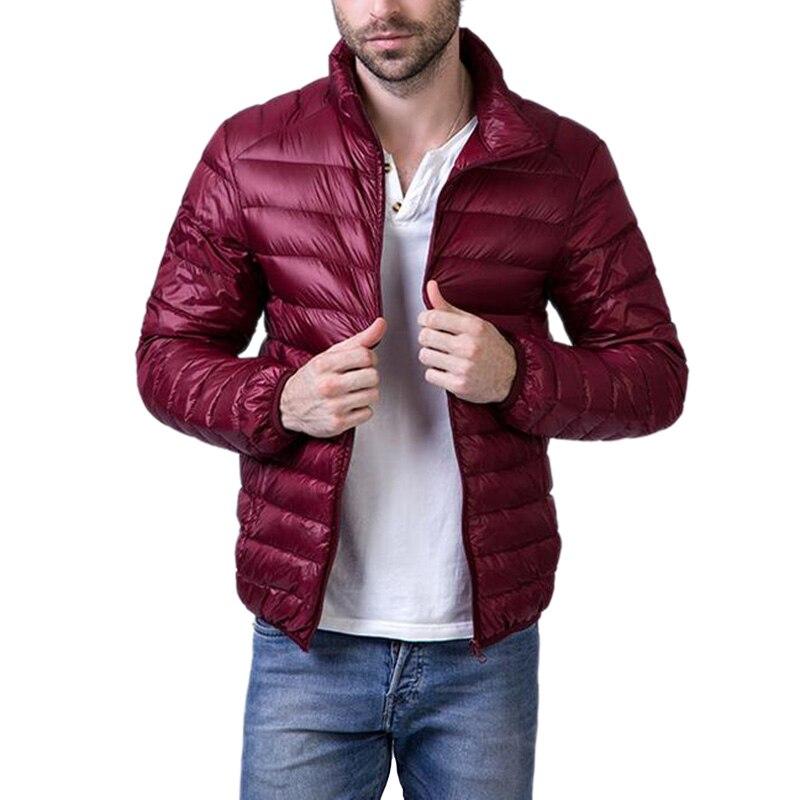 Moda Erkekler Artı Boyutu M-4XL Slim Fit Işık aşağı ceket rüzgar geçirmez standı yaka kış giyim fermuarlar kapitone aşağı yelek ceket