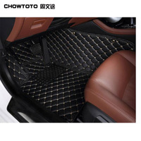 7seats Non Slip Carpets For Prado 7 Seats Model Car Styling Foot Mat AA Custom Special