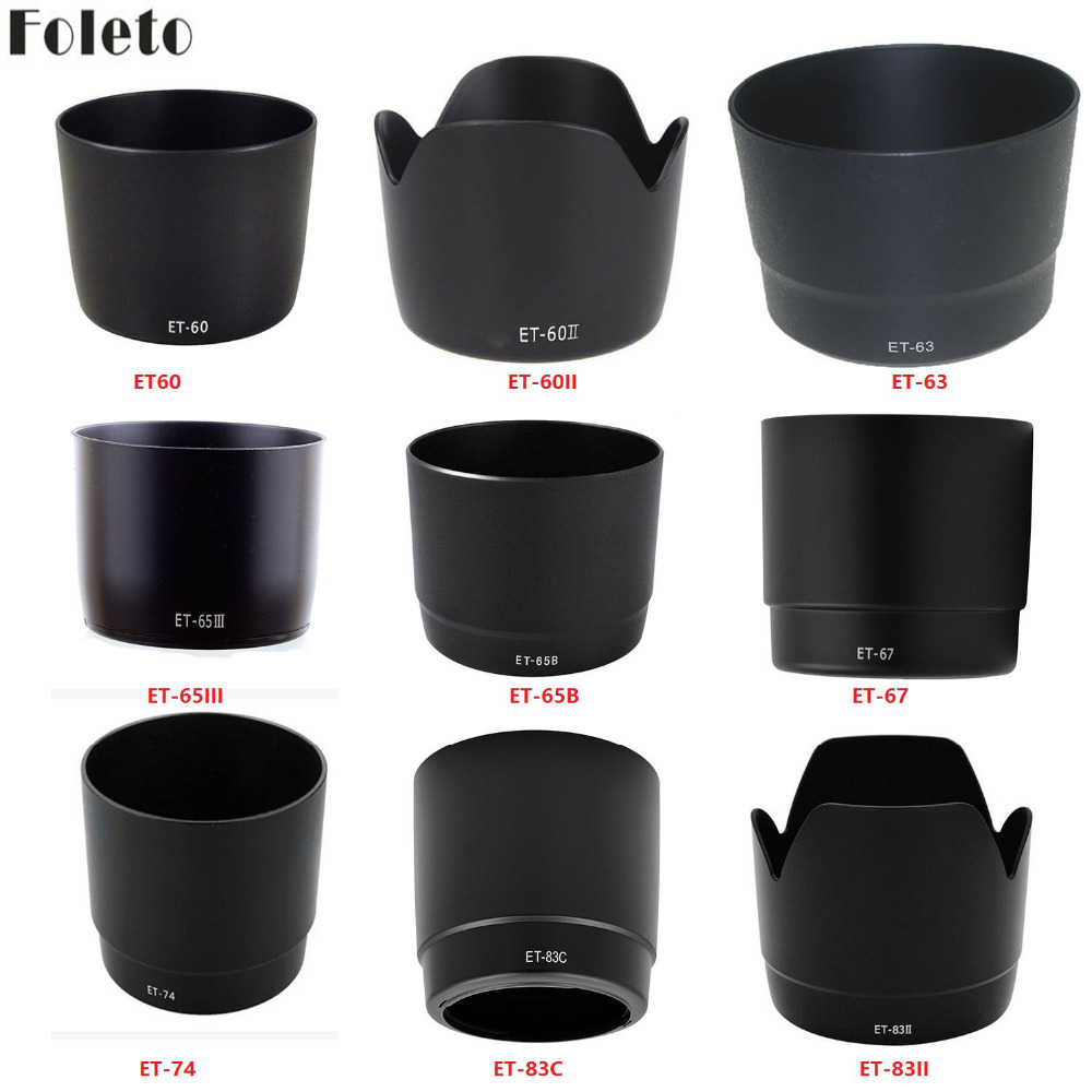 Foleto Telephoto Lens Hood ET-60 II ET63 ET65B ET74 ET83C ET83II For Canon EF EF-S Lens 500d 600d 1000d 110d 600d 700d 800d 5div