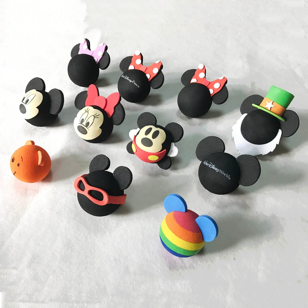 [10pcs Wholesale] Adorable Funny Cartoon Doll Antenna Balls EVA Aerial Toppers Decor Car Styling Mickey Minnie Bee Doraemon Pig