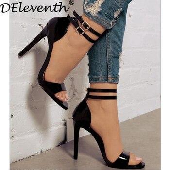Deleventh Hebilla Zapatos Gladiador Mujeres Doble Nueva Correa 0q0Oxwz