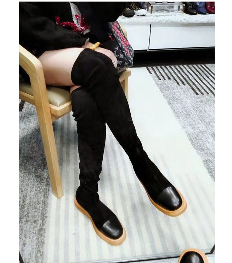European over the knee thigh high boots leahter stretch flat square toi boots platform winter long boots women genuine leatherEuropean over the knee thigh high boots leahter stretch flat square toi boots platform winter long boots women genuine leather