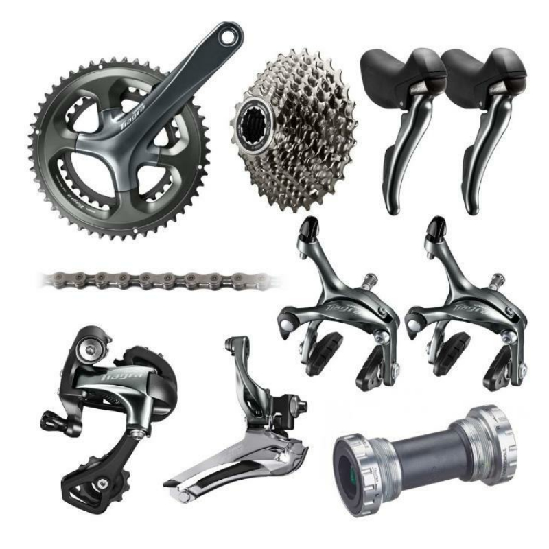 Shimano Tiagra 4700 10 Speed Groupset 2x10 Speed 50 34 52 36 170mm Road Bicycle Groupset