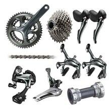 Shimano Tiagra 4700 10 Скорость список групп 2×10 Скорость 50/34 52/36 170 мм Дорожный велосипед указано