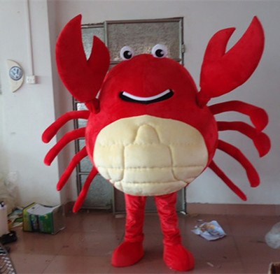 red crab Mascot Costumes Unisex cartoon Apparel Cosplay Custom made Adult Size