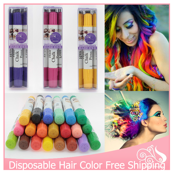50pcslot hair color professional wholesale natural non toxic temporary 12 colors for u pick salon hair color pen dye pastels - Hair Color Pen